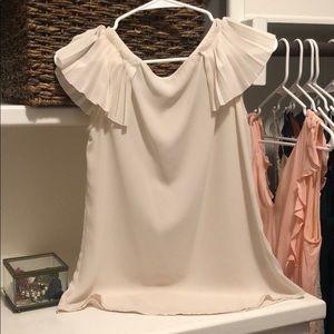 Banana Republic flutter sleeve blouse
